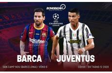 Tiêu điểm nhận định bóng đá cúp c1 trận đấu Barcelona vs Juventus vào lúc 3h00 ngày 09-12-2020