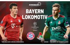 Dự đoán bóng đá cúp c1 hôm nay trận đấu Bayern Munchen vs Lokomotiv Moscow lúc 3h00 ngày 10-12-2020