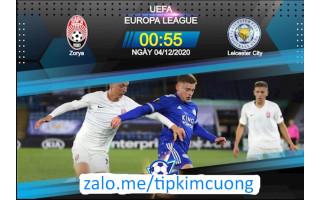Soi kèo bóng đá trận đấu Zorya Lugansk vs Leicester City, 00h55 hôm nay ngày 04-12-2020