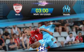 Nhận định bóng đá kèo nhà cái trận đấu Nimes vs Olympique de Marseille vào lúc 3h00 ngày 05-12-2020